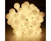 Gyöngy fényfüzér meleg fehér 14,4 méter