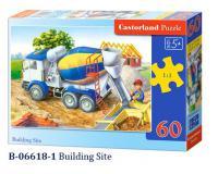 60 darabos Mesefigurás kirakó Építkezés betonmixerrel