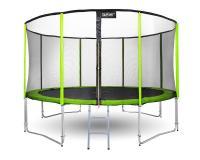 Kerti trambulin 366 cm átmérővel, 263 cm magassággal zöld színben
