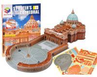 3D puzzle Szent Péter Bazilika, Vatikán (61 darabos)