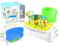 2 az 1-ben interaktív játékasztal és etetőszék gyermekeknek ( összecsukható )