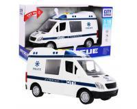 Rendőrségi busz hangjelzésekkel 1:16 méretarányban