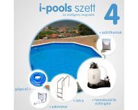 I-POOLS 4 kerek medence szett 4,6 x 1,2 m