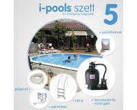 I-POOLS 5 ovális medence szett 5 x 3 x 1,2 m