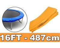 Trambulin rugóvédő fólia 487 cm narancssárga színben