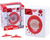 Játék mosógép - piros-fehér